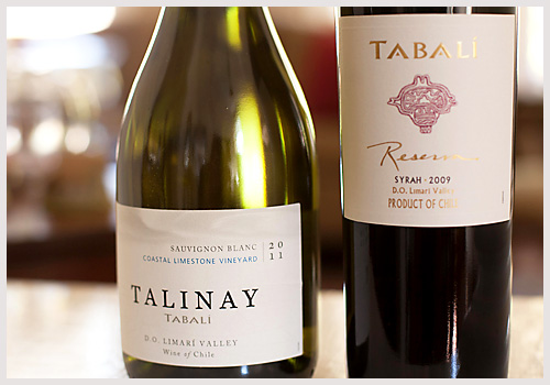 Tabali wines from Chile