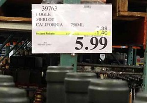 Holiday wine sale at Costco